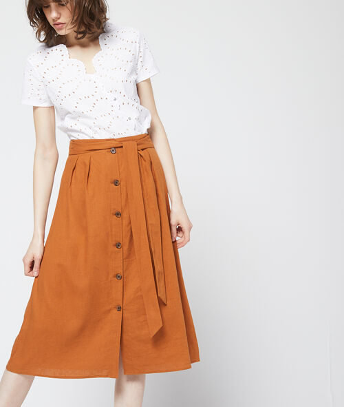 new authentic world-wide selection of unique design Button midi skirt