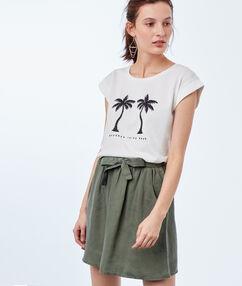 Skirt with belt khaki.