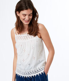 Camisole top off-white.