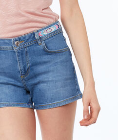 Denim shorts stone.