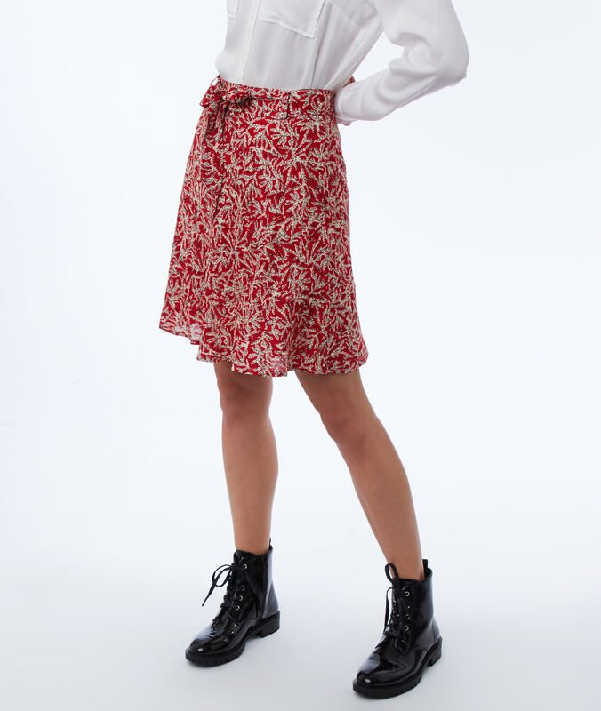 Skater skirt with print poppy.