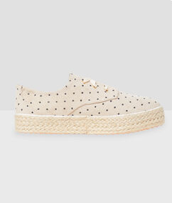 Lace up trainers beige.