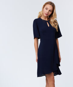 Wrap dress navy blue.