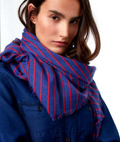 Striped scarf blue.