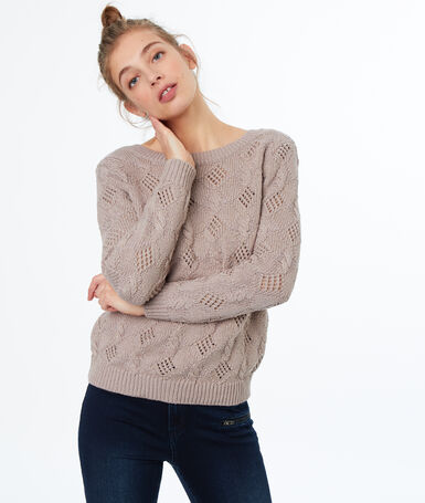 Knitted jumper dune.