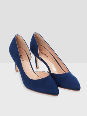 Heeled pumps navy blue.