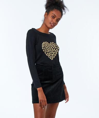 Velvet skirt black.
