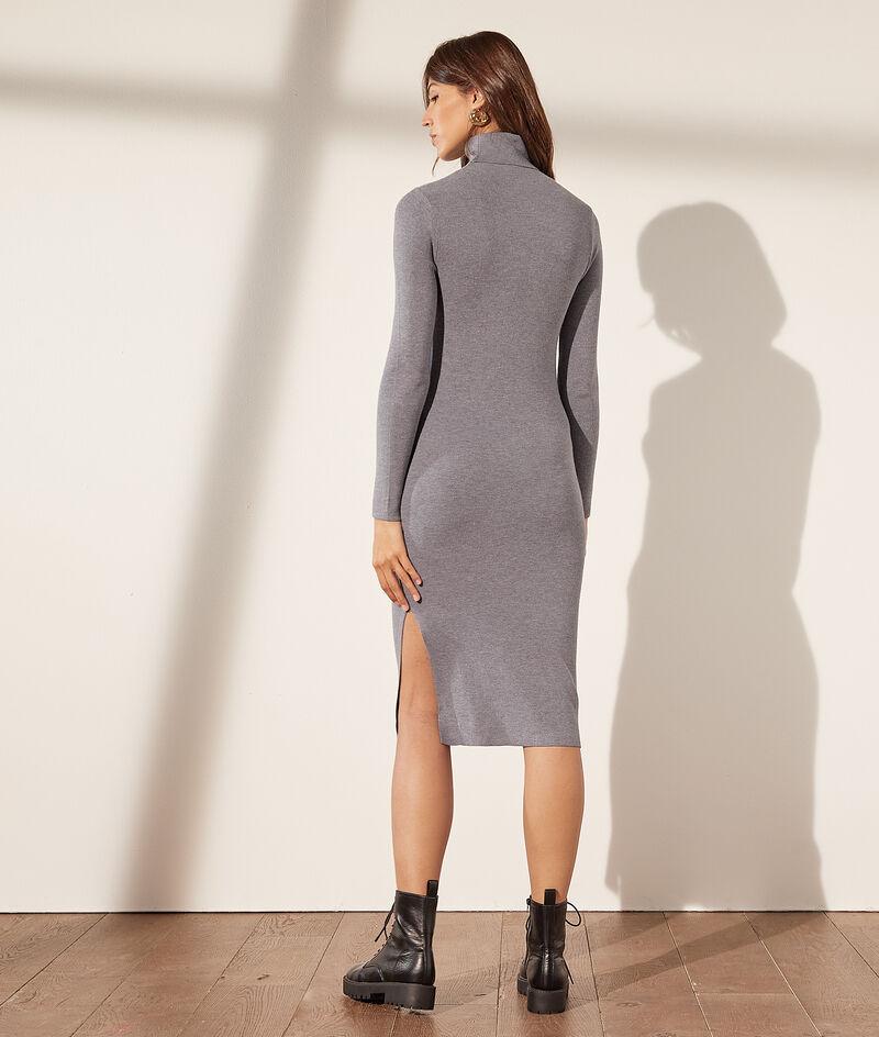 Turtleneck knit dress