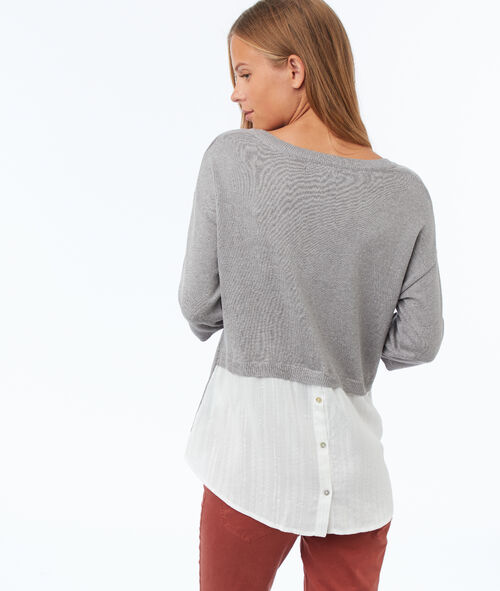3/4 sleeves hybrid jumper