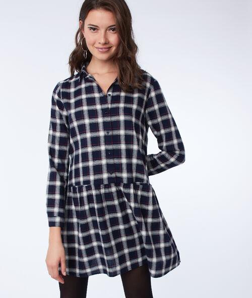 Check shirt dress