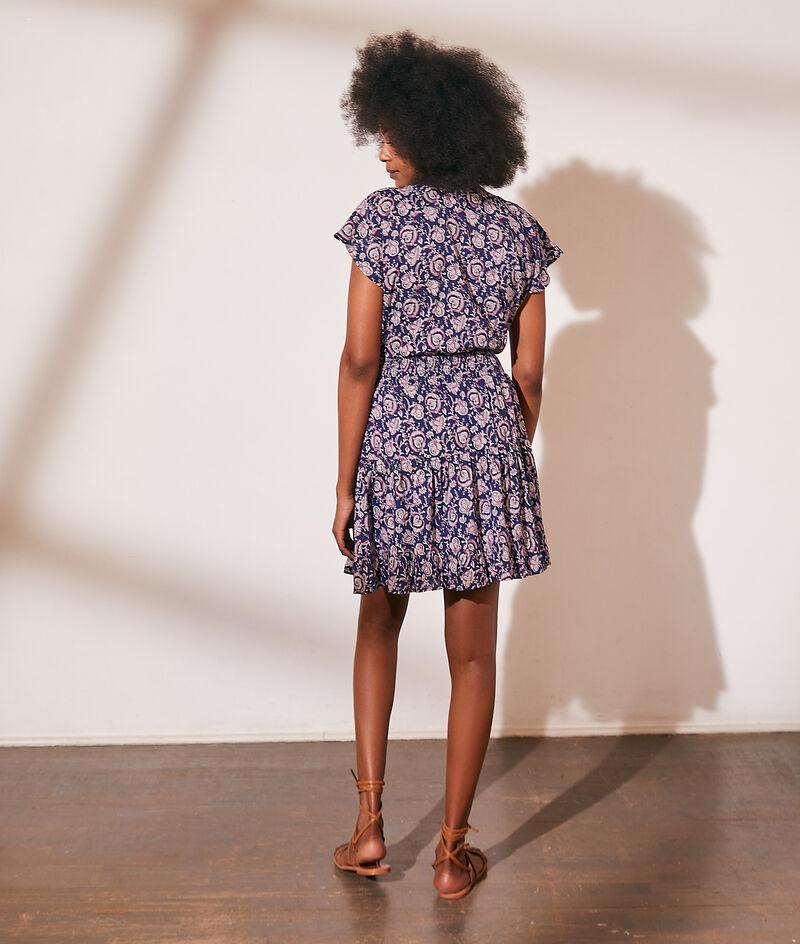 Printed cotton smoked dress