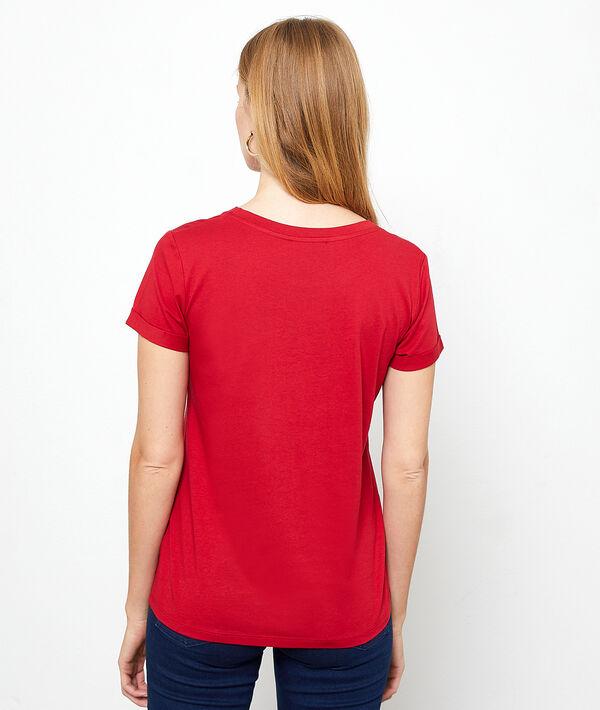 "T-shirt ""Amore mio"" à broderies"