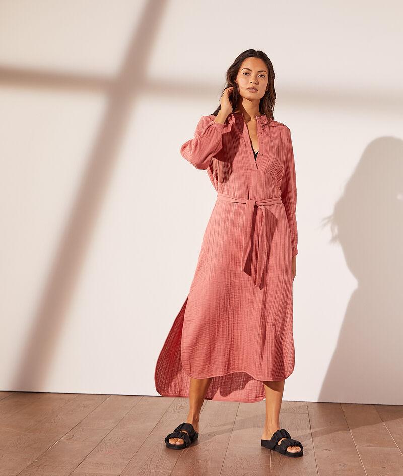 Long dress in cotton gauze