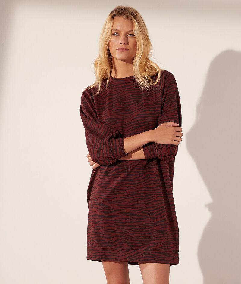Zebra print sweater dress