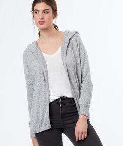 Zip through hoodie grey.