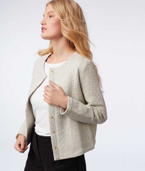 Metallic thread jacket