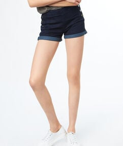 Button-up denim shorts denim.