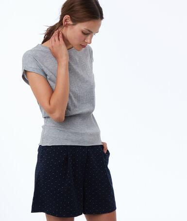 Jacquard shorts navy blue.