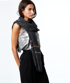 Printed scarf black.
