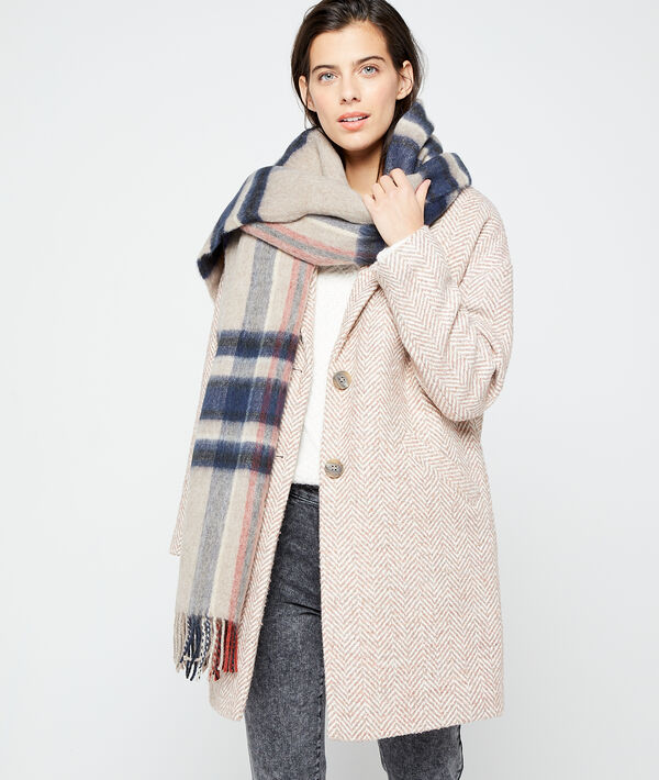 Plaid scarf in check
