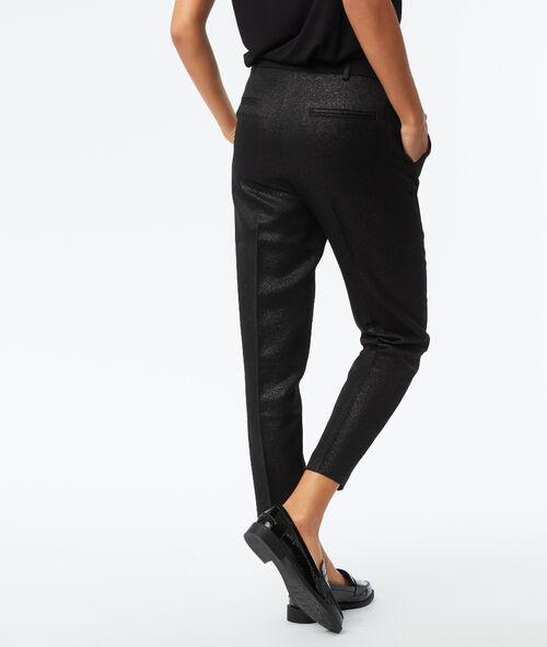 Pantalon effet métallisé