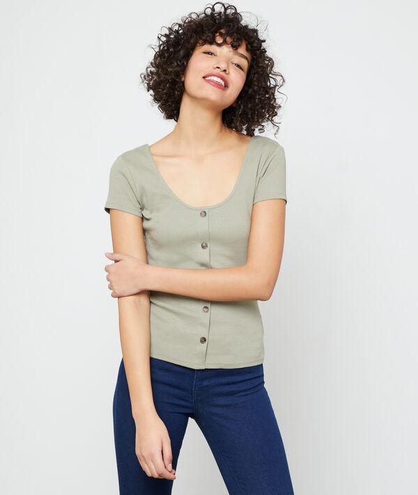 Button through T-shirt