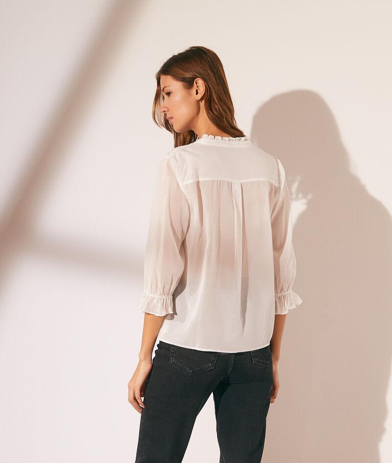 Transparent shirt with lace details