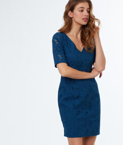 Lace dress ink blue.