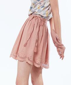 Cutwork skirt light pink.
