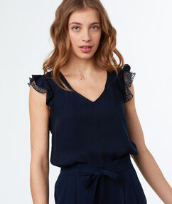 Sleeveless top navy blue.