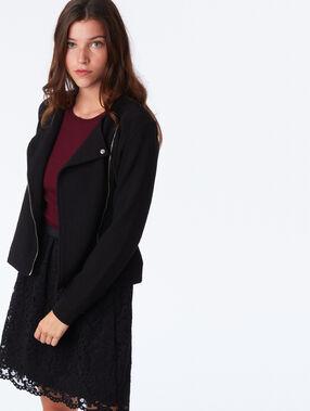 Lace skater skirt black.