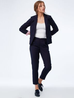 Tailored slimline pants navy blue.