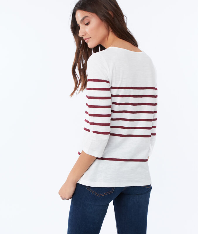 Breton top in cotton red.