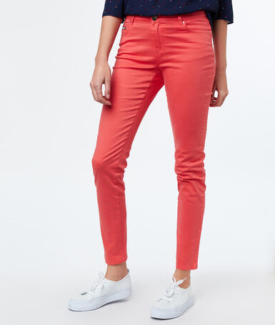 Slim-fit trousers apricot.