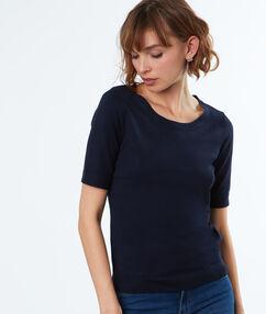 Short sleeved jumper navy blue.