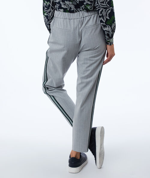 Pants with side stripes