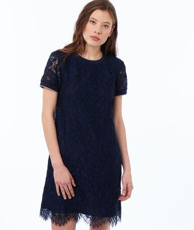 Lace dress navy blue.