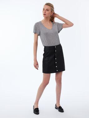 Tencel® v-neck t-shirt light gray.