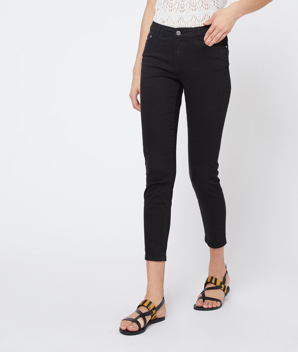 Cotton cropped slim trousers