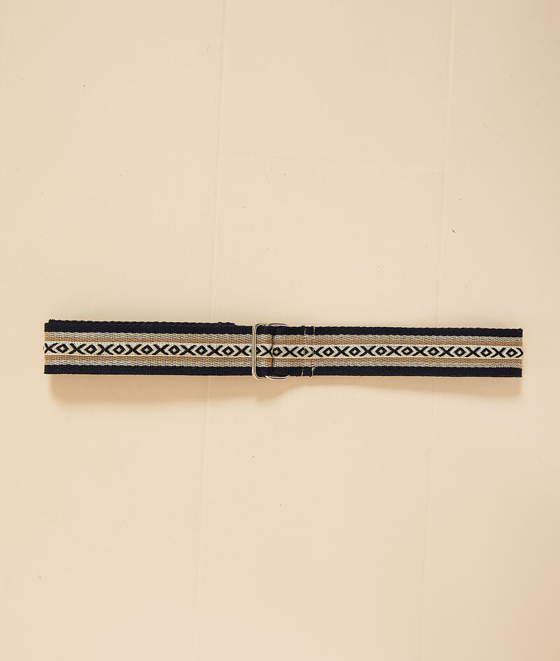 Ethnic printed belt