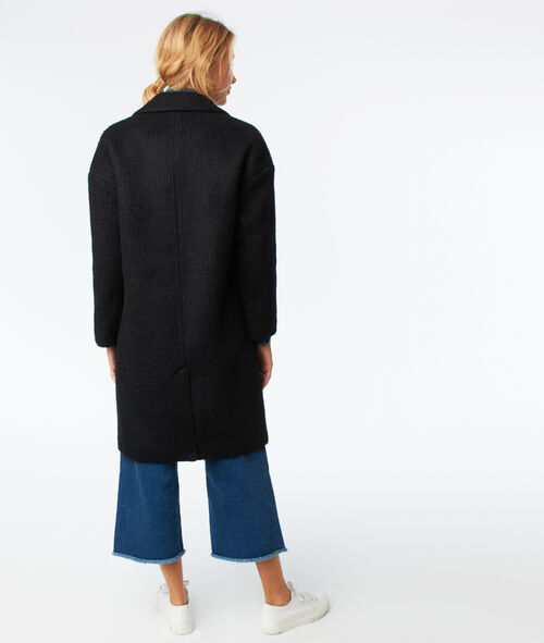 Wool blend oversize coat