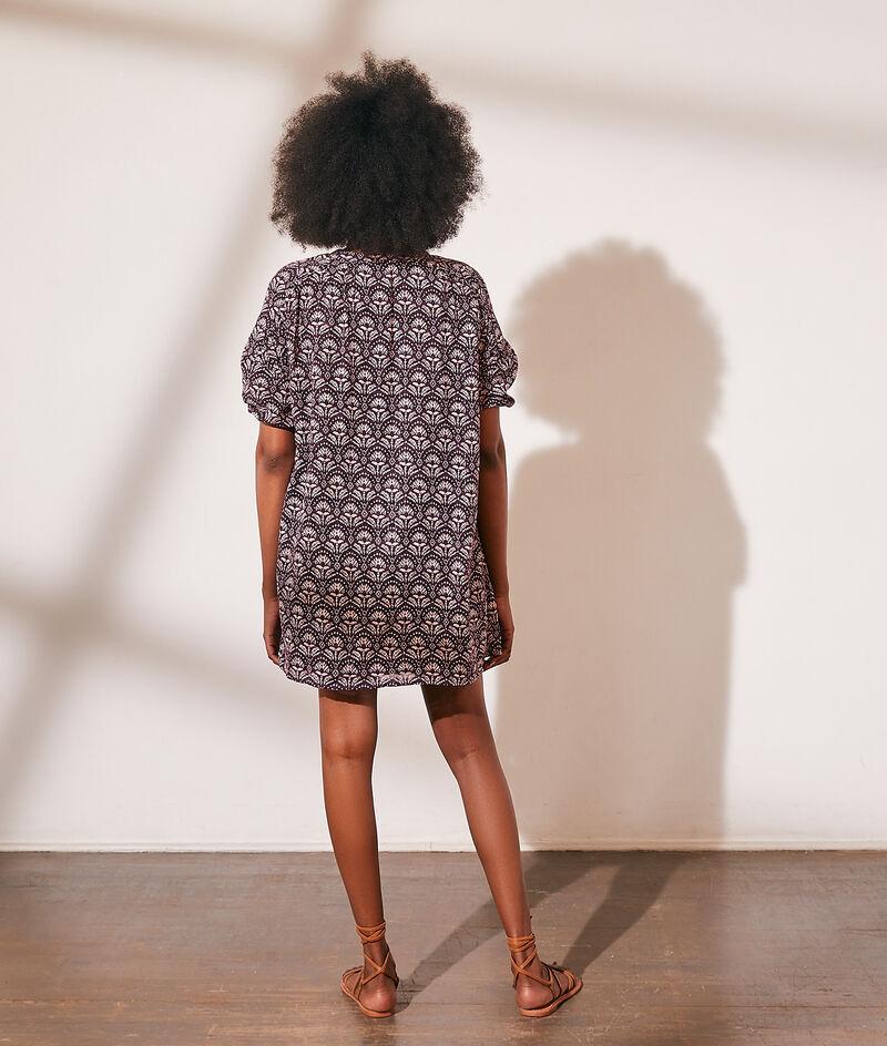 Printed cotton tunic dress
