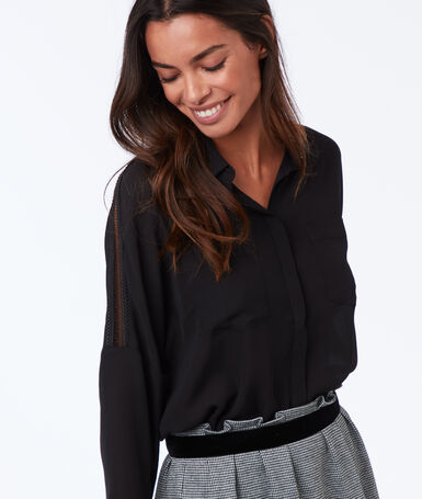 Long sleeve blouse black.