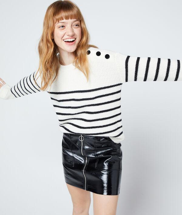 Maxi knit jumper in stripes