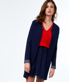 Long cardigan navy blue.