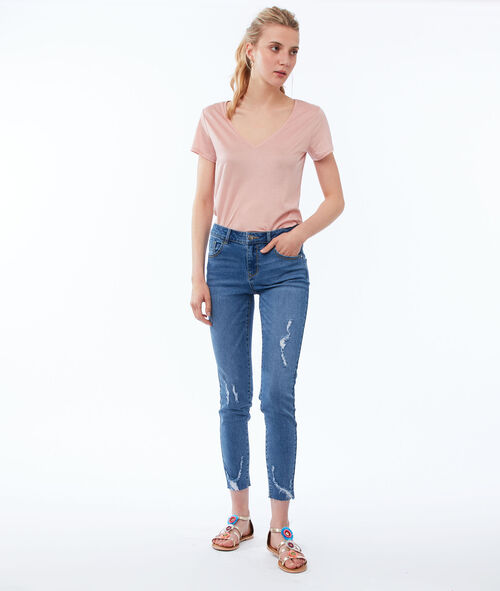 Skinny jeans with torn effect