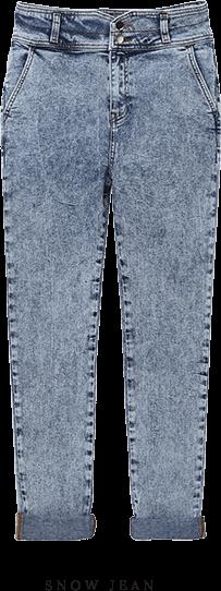 ETAM - NEIGE Jean délavé taille haute