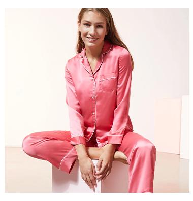 Pyjamas satinés - Soldes chez Etam