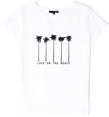 "ETAM - MULTIPALM T-shirt ""Love on the beach"" en coton"