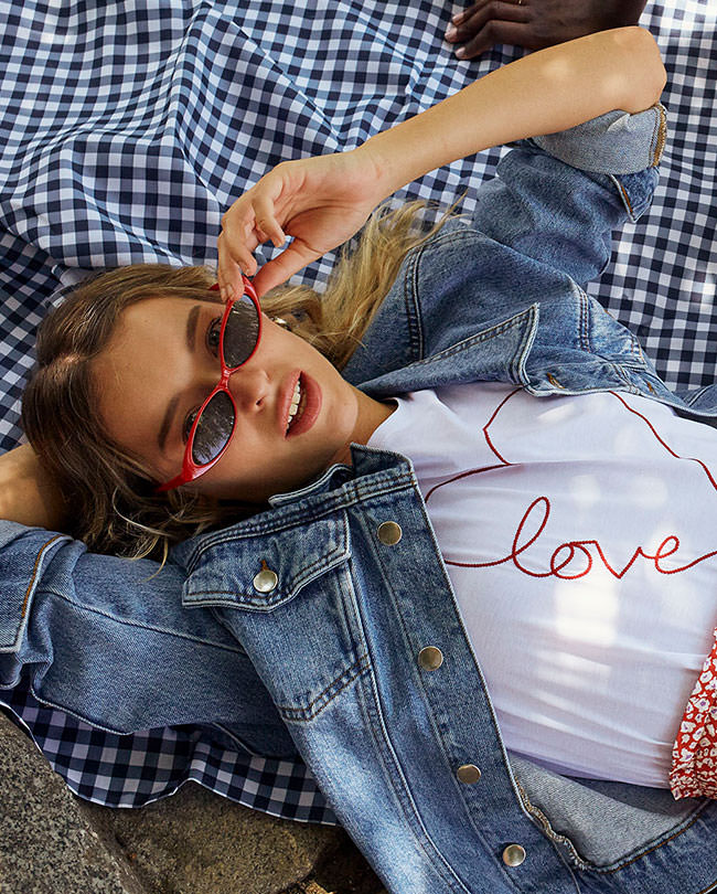 "ETAM - DREAM Veste en jean ""Forever dreamer girl"""